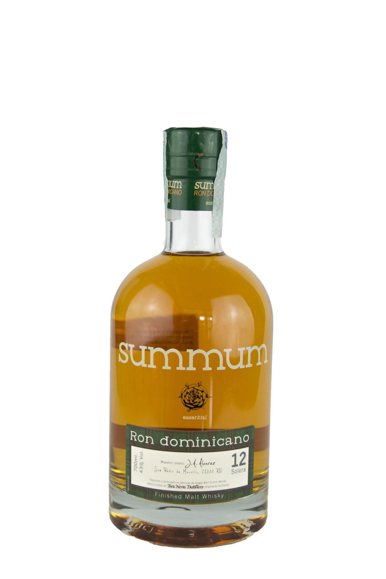 Alcoholes Finos Dominicano s- Summum Rum Whisky Finish 12 Anni