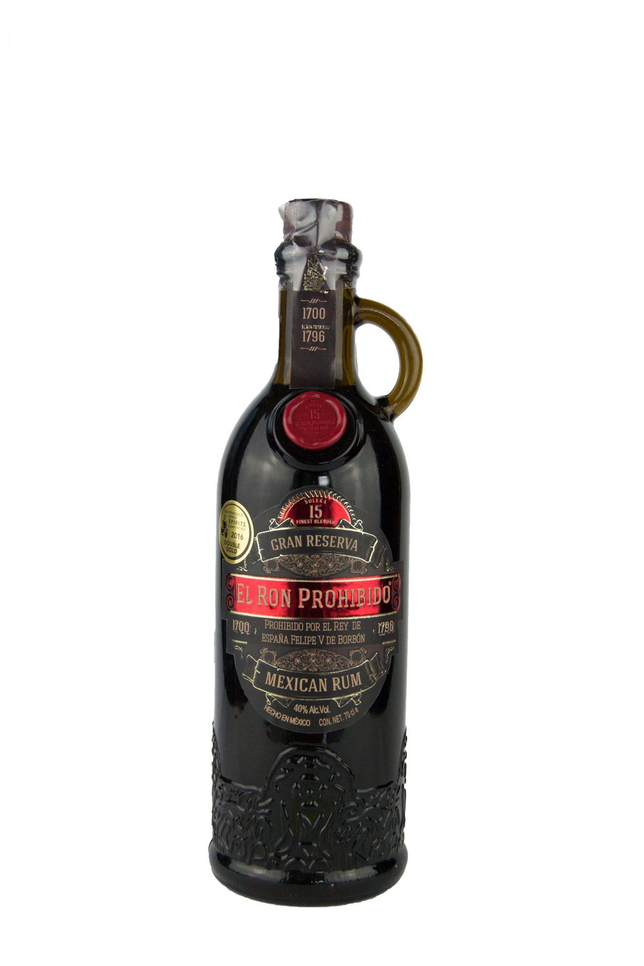 """El Ron Prohibido – Mexican Rum """"Gran Reserva"""" 15 Anni"""