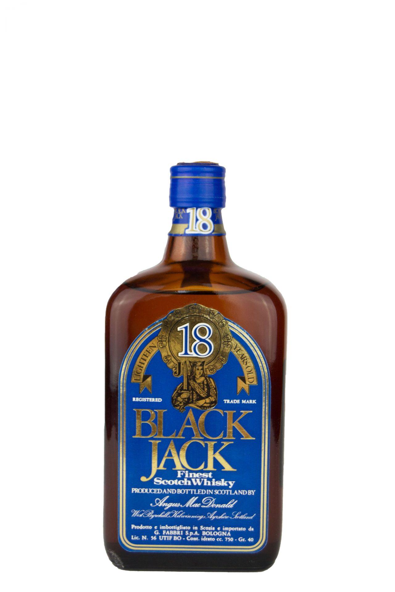 """Black Jack – Finest Scotch Whisky """"18 Anni"""""""