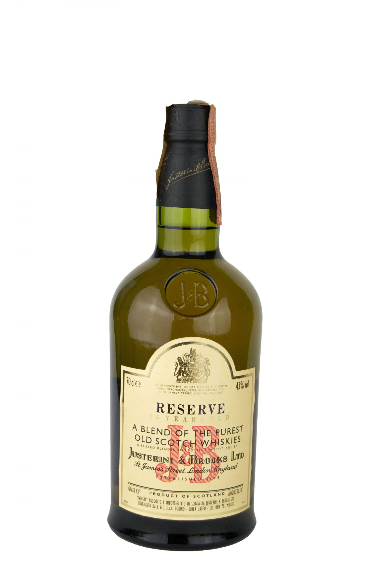 J&B – Reserve 15 Years Old